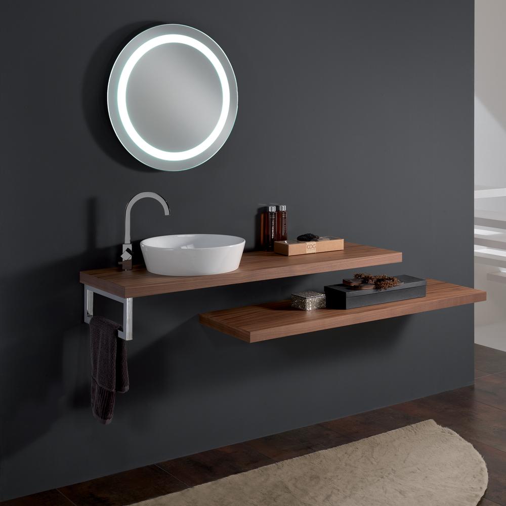 Round vessel sink as a smart storage solution