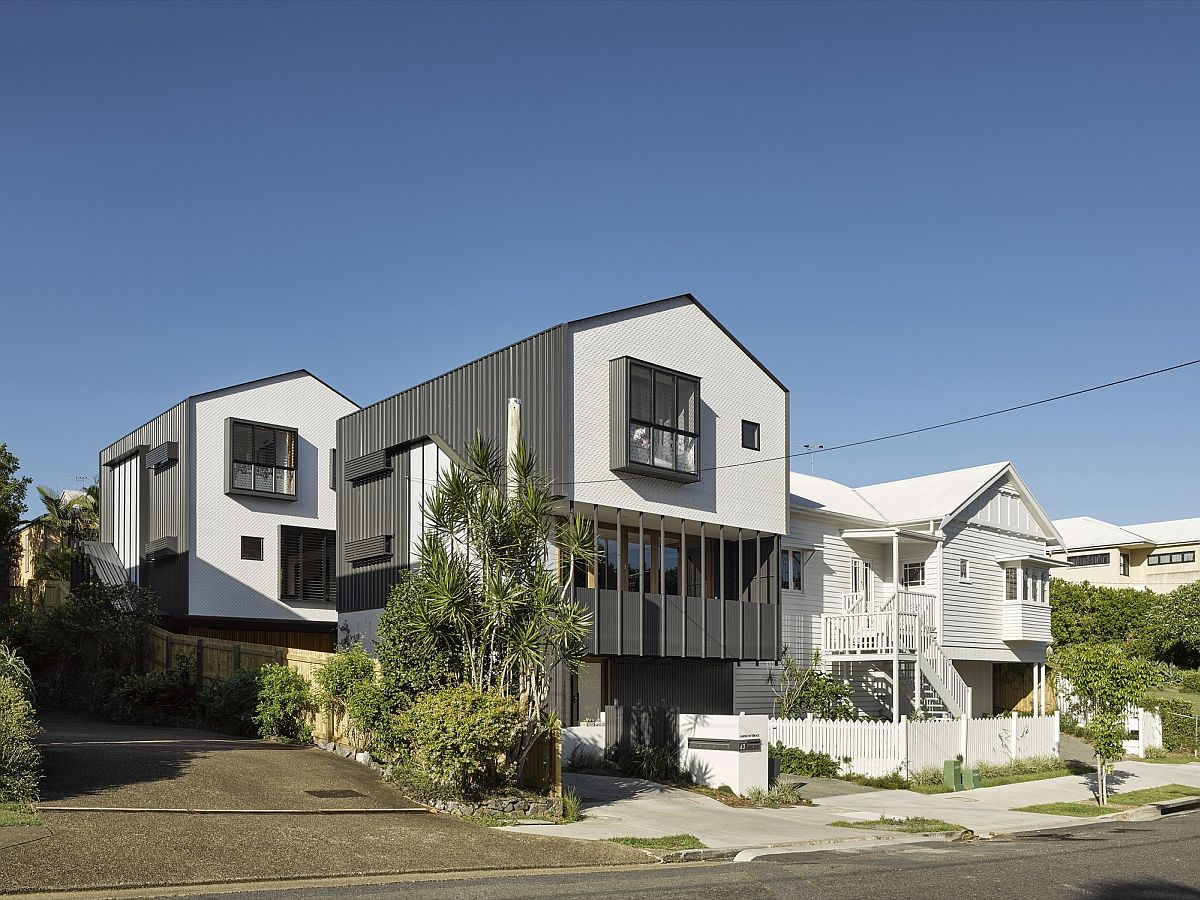 Series of five dwellings in Brisbane set on a 760 square meter lot