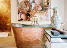 Shabby-copper-bathtub-is-a-magnificent-piece-for-artsy-bathroom--217x155