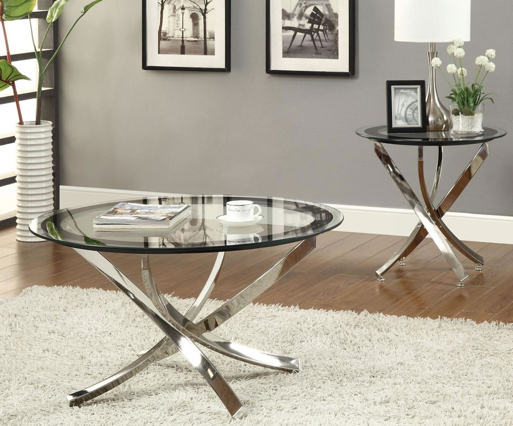 Stunning Glass Living Room Tables Pictures