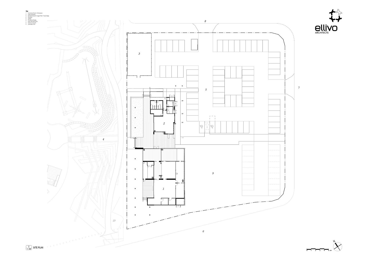 Site plan of Providence Neighbourhood Centre