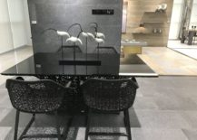 Small-cutting-edge-dining-area-black-table-black-chairs-GamaDecor-217x155