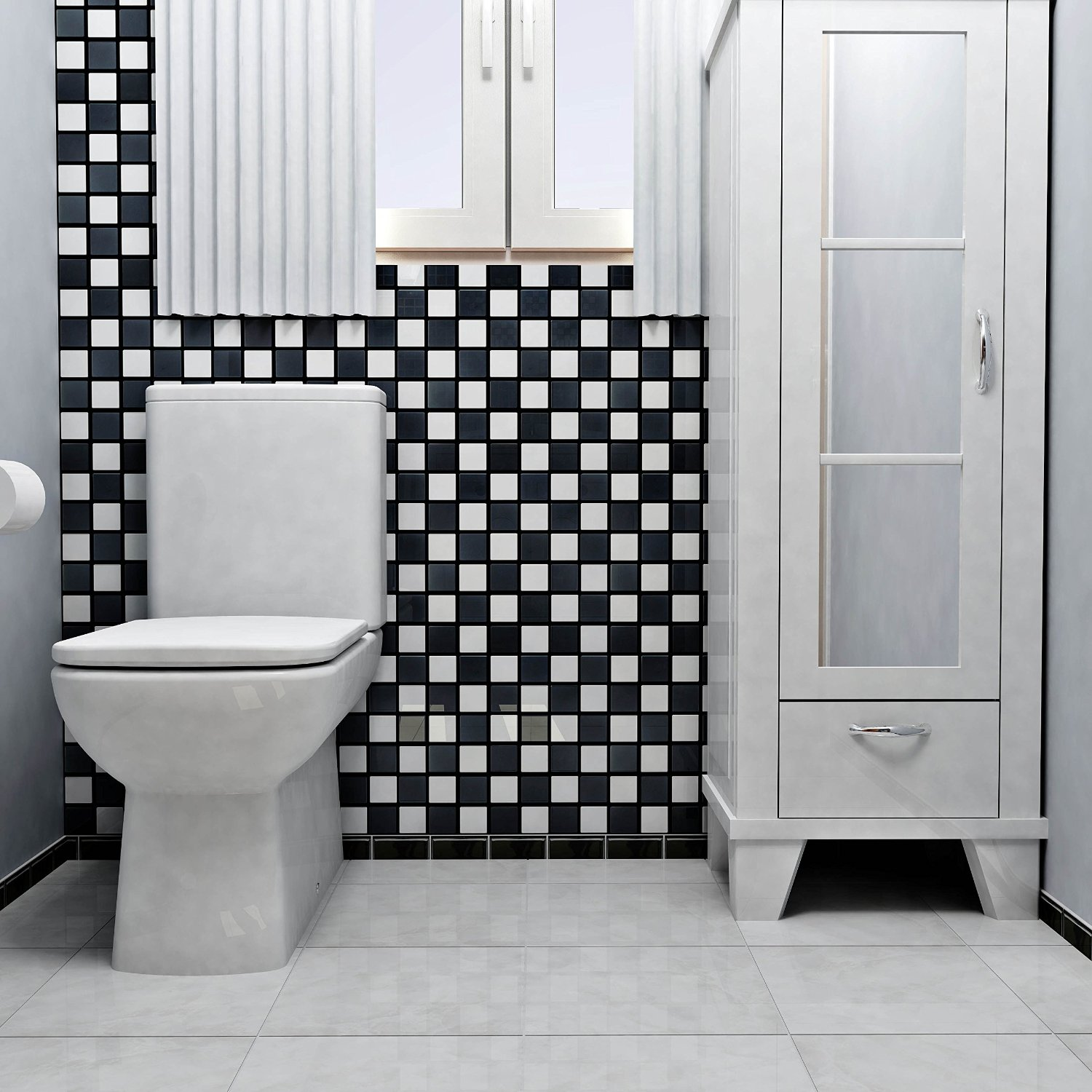 30 vintage and grandiose checkered bathrooms dailygadgetfo Image collections