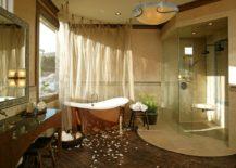 Spacious-bathroom-with-a-copper-bathtub-near-the-walls--217x155