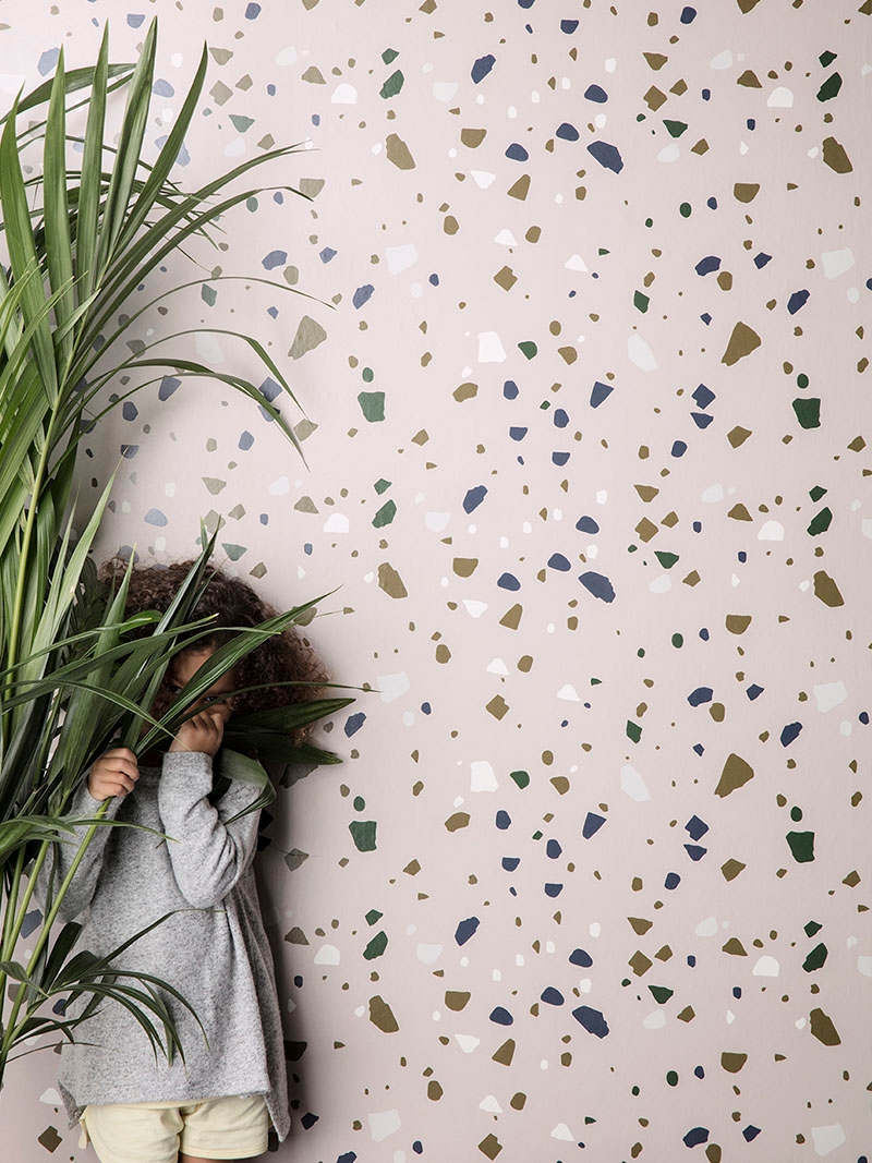 Terrazzo wallpaper from ferm LIVING