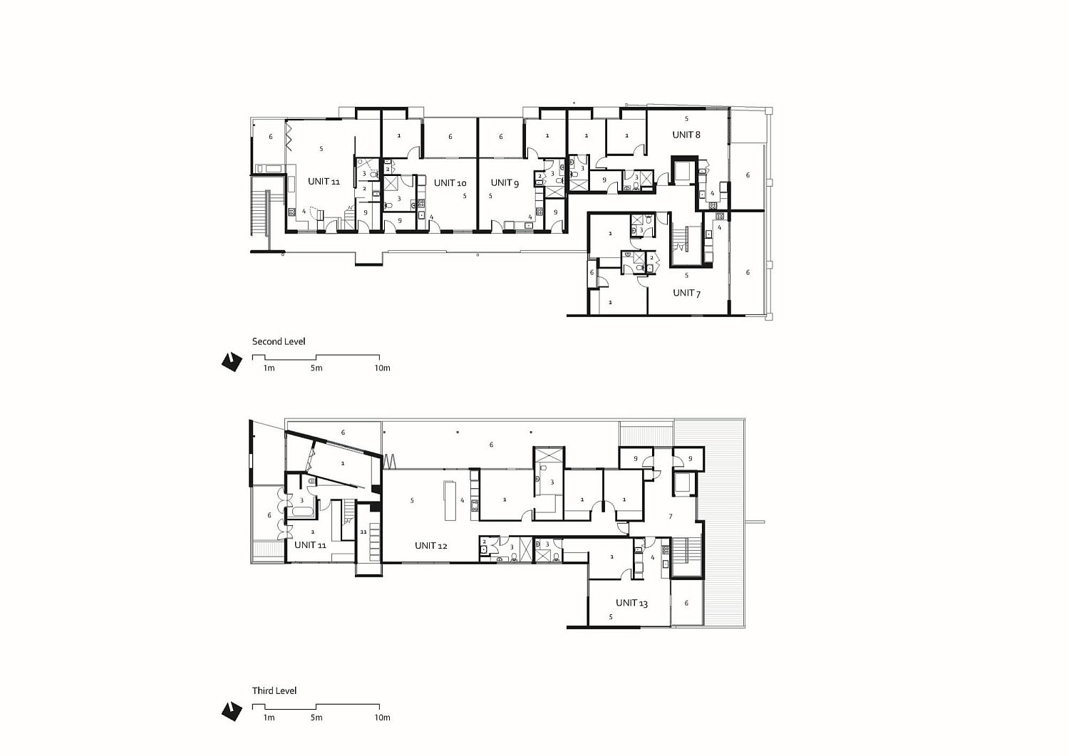 Third and fourth level floor plans of the revamped heritage building