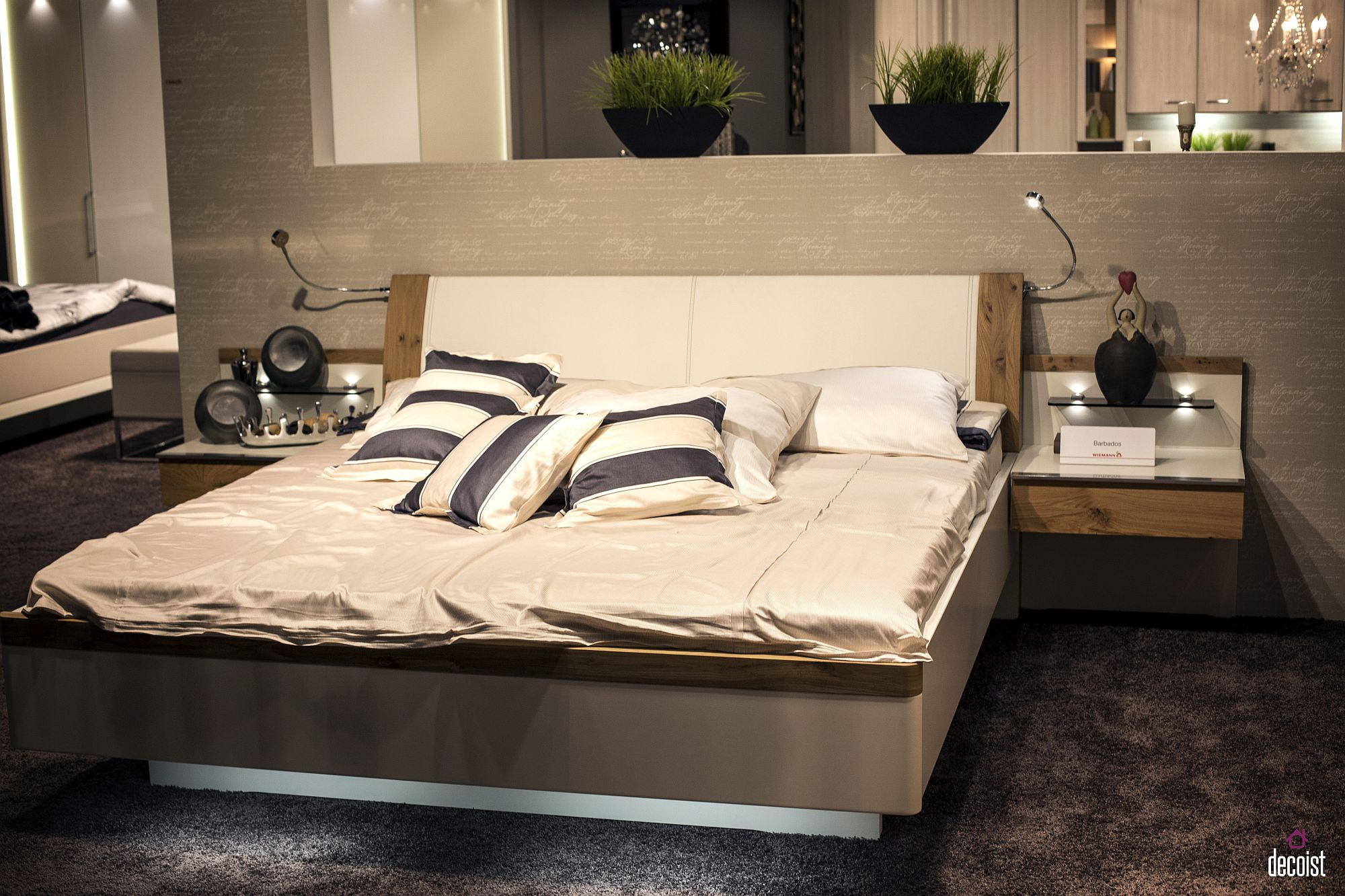 Ultra-slim nightstand with smart lighting and a single drawer provides everything you need