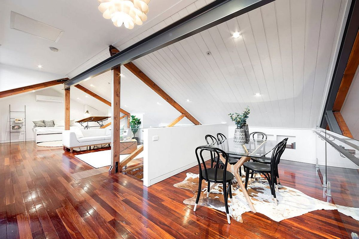 Upper level of the Tannery penthouse in Melbourne