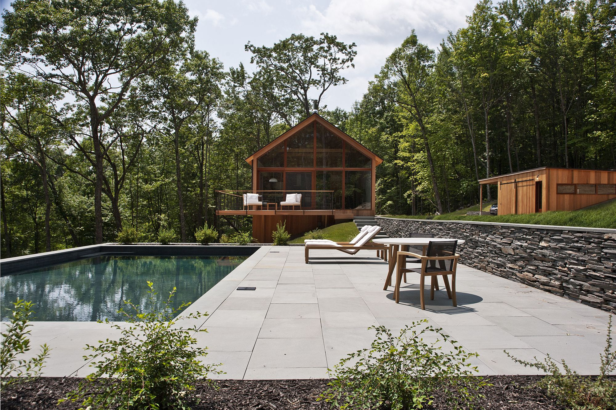 Upscale collection of modern cabins in the Catskills