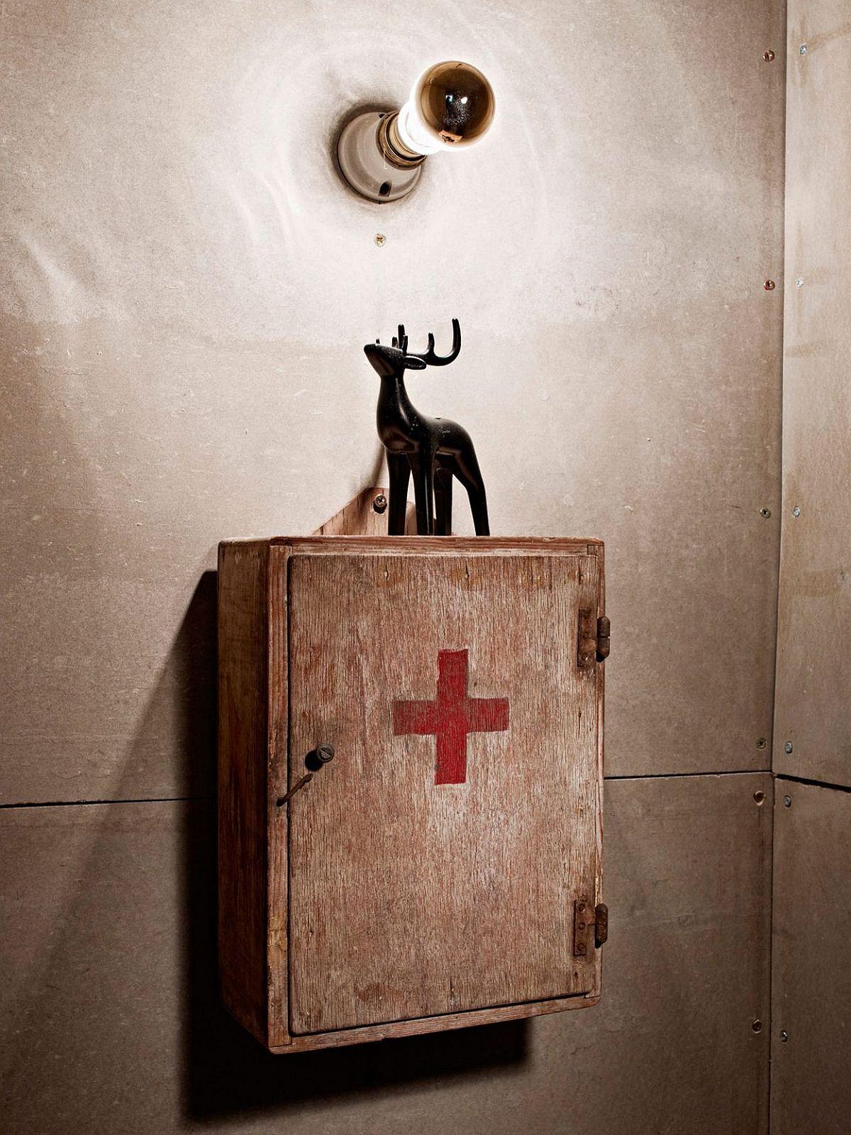 Vintage medicine cabinet for the industrial modern bathroom