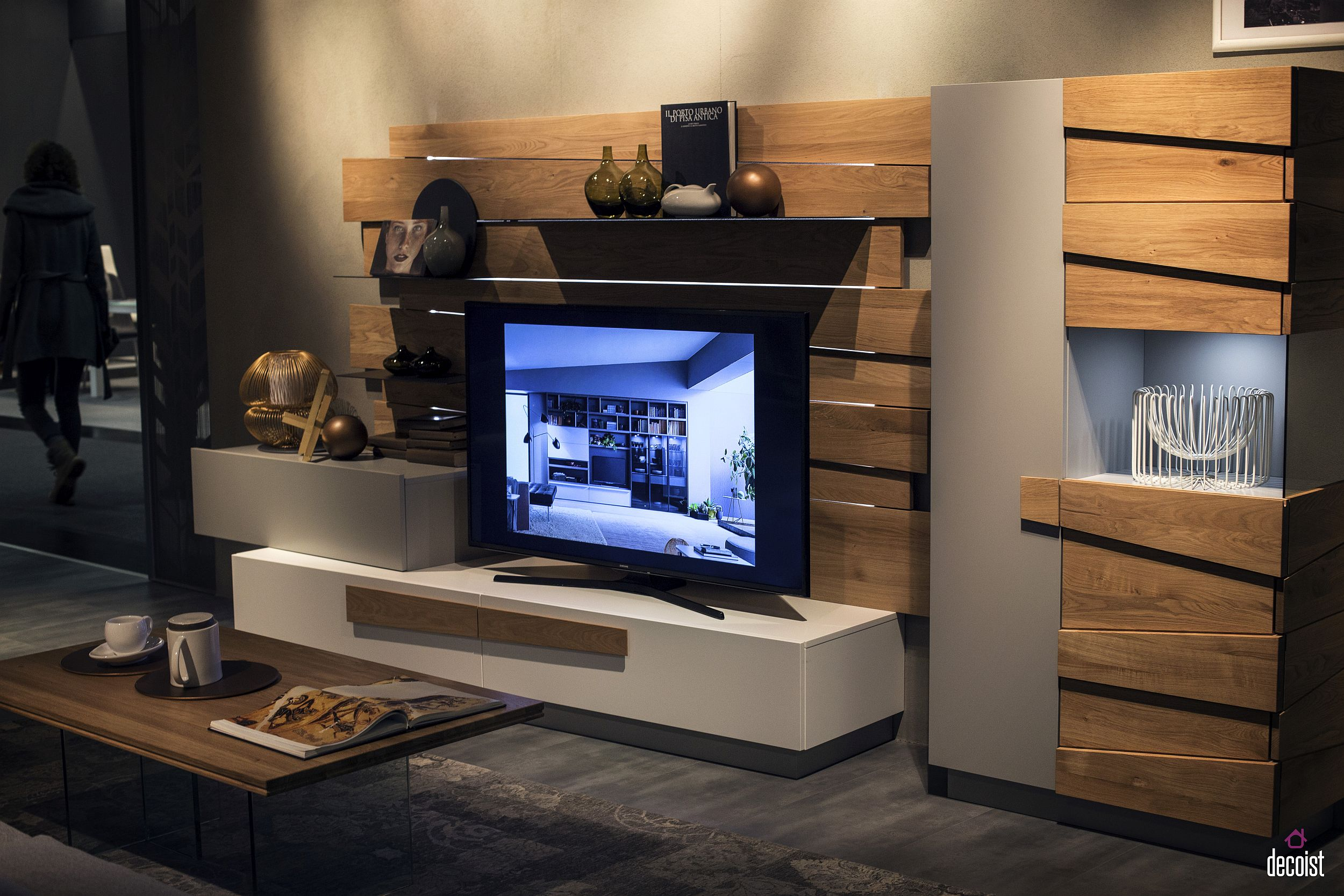 Living Room With Tv Unit tastefully space-savvy: 25 living room tv units that wow!