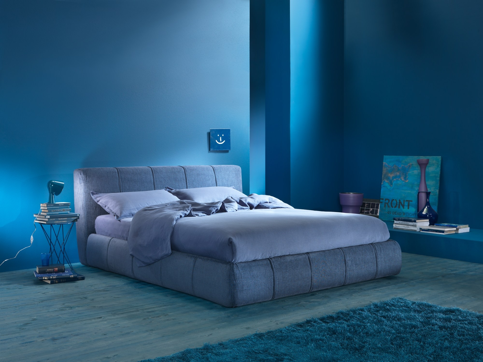 Interior Blue Bedroom moody interior breathtaking bedrooms in shades of blue cool and modern the bedroom