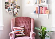 A-pastel-pink-armchair-for-a-tender-reading-nook--217x155