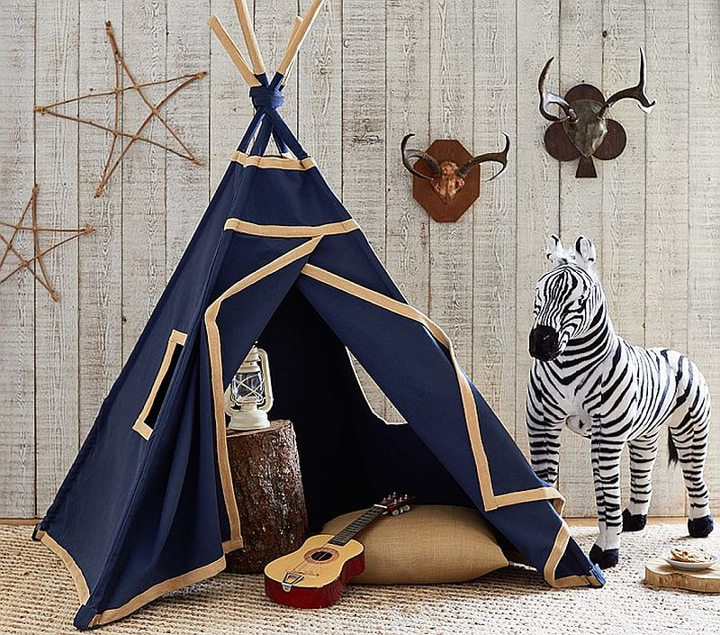 A perfect teepee for the boys' room in blue – Indigo Mini Teepee