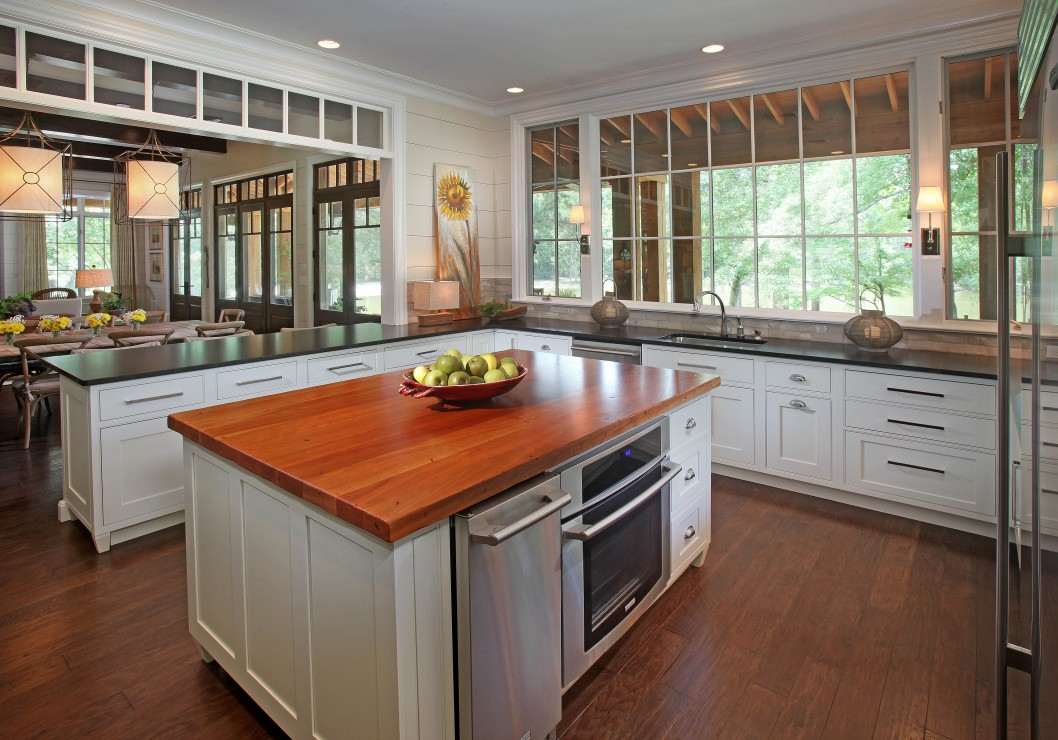 A Polished Wooden Countertop With