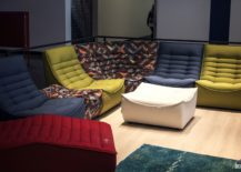 Adding color and pattern to the living room with modular sofa units from Calia Italia 217x155 30 Bright and Comfy Sofas that Add Color to the Living Room