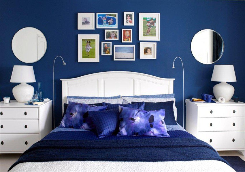 . Moody Interior  Breathtaking Bedrooms in Shades of Blue