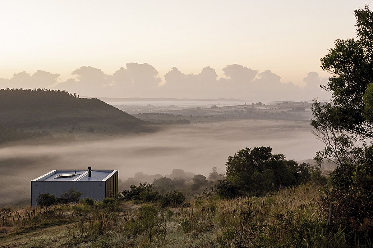 Amazing view of dreamy landscape around the prefab at Pueblo Eden