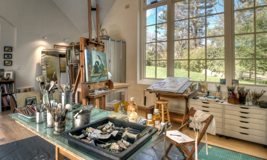30 Creative & Beautiful Home Art Studio Ideas