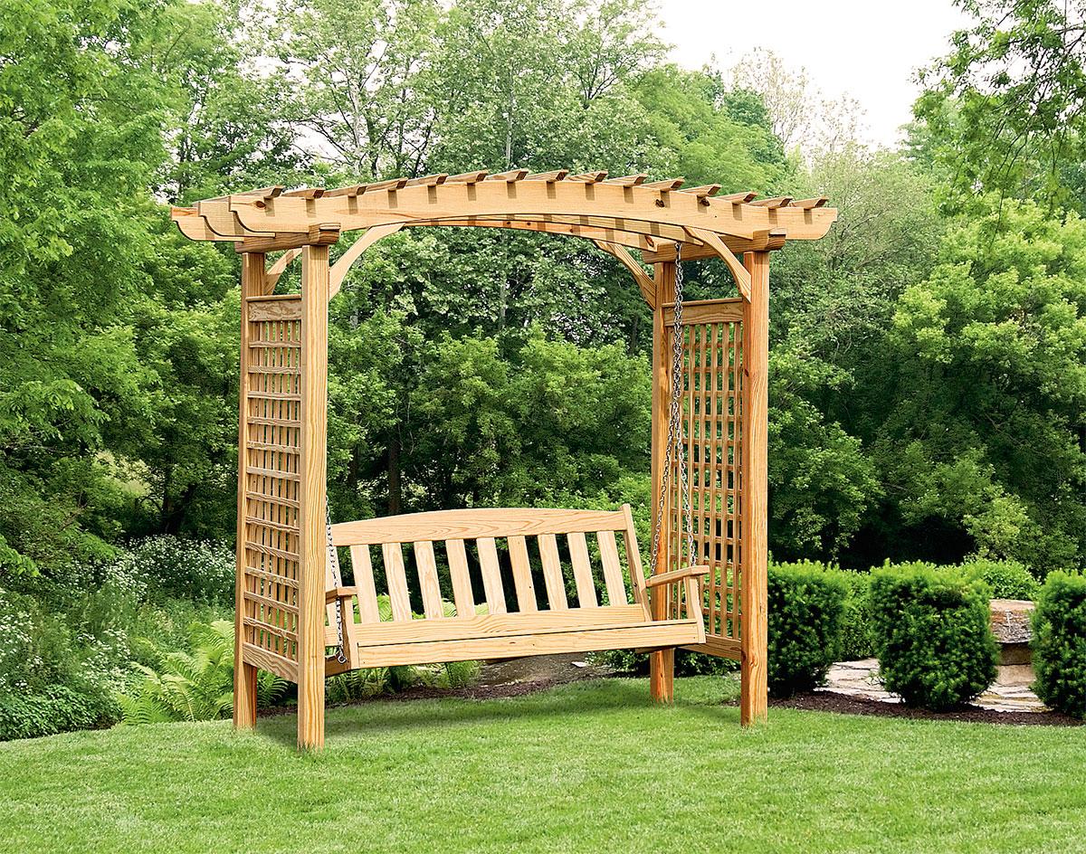 Beautiful-garden-swing-on-the-edge-of-the-yard-