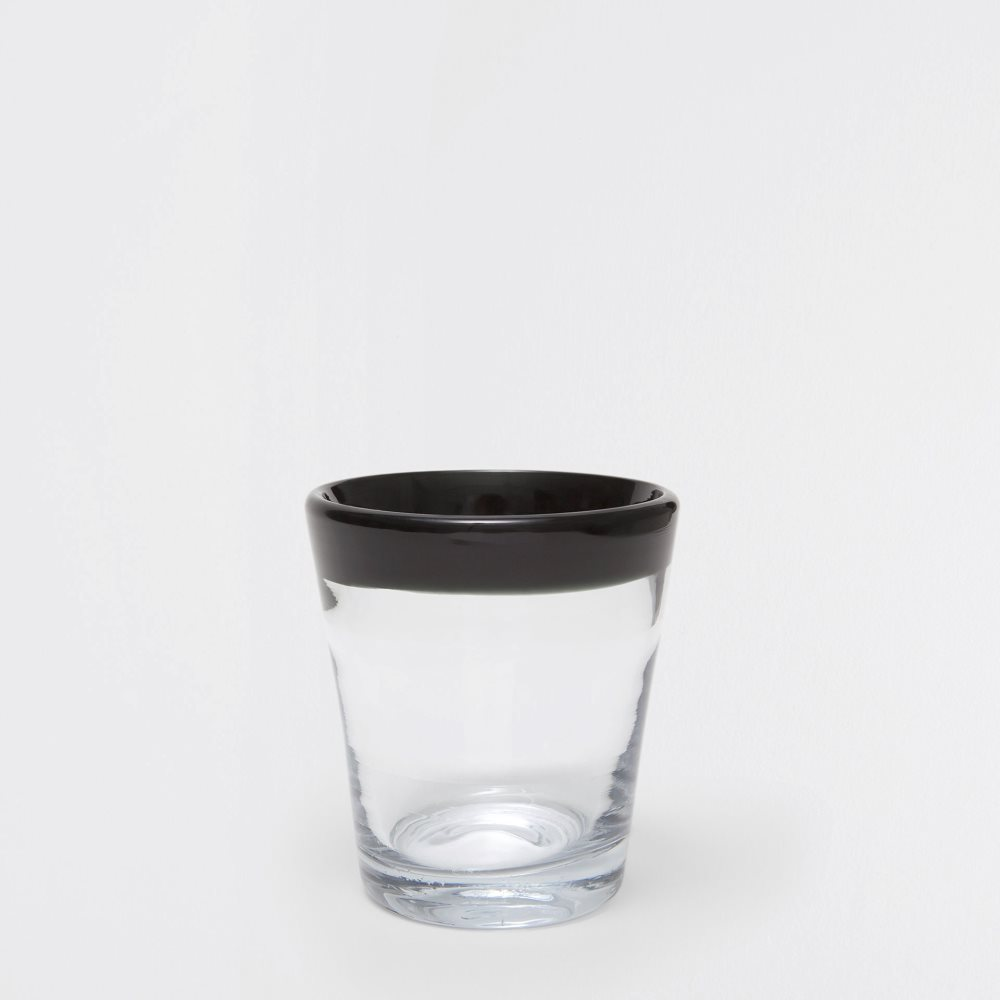 Black-rimmed glass tumbler from Zara Home