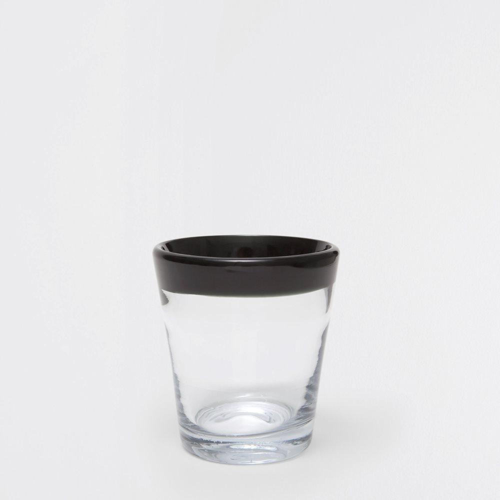 Black-rimmed glass tumbler from Zara Home