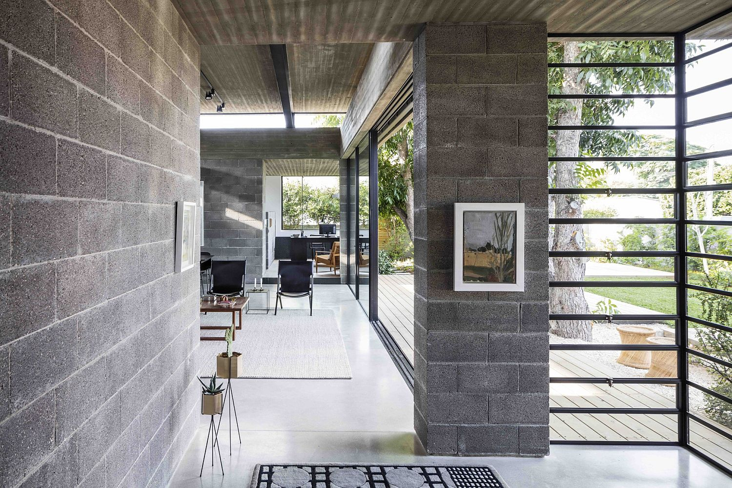 Concrete Blockwork And A Love For The Landscape Shape Bare House