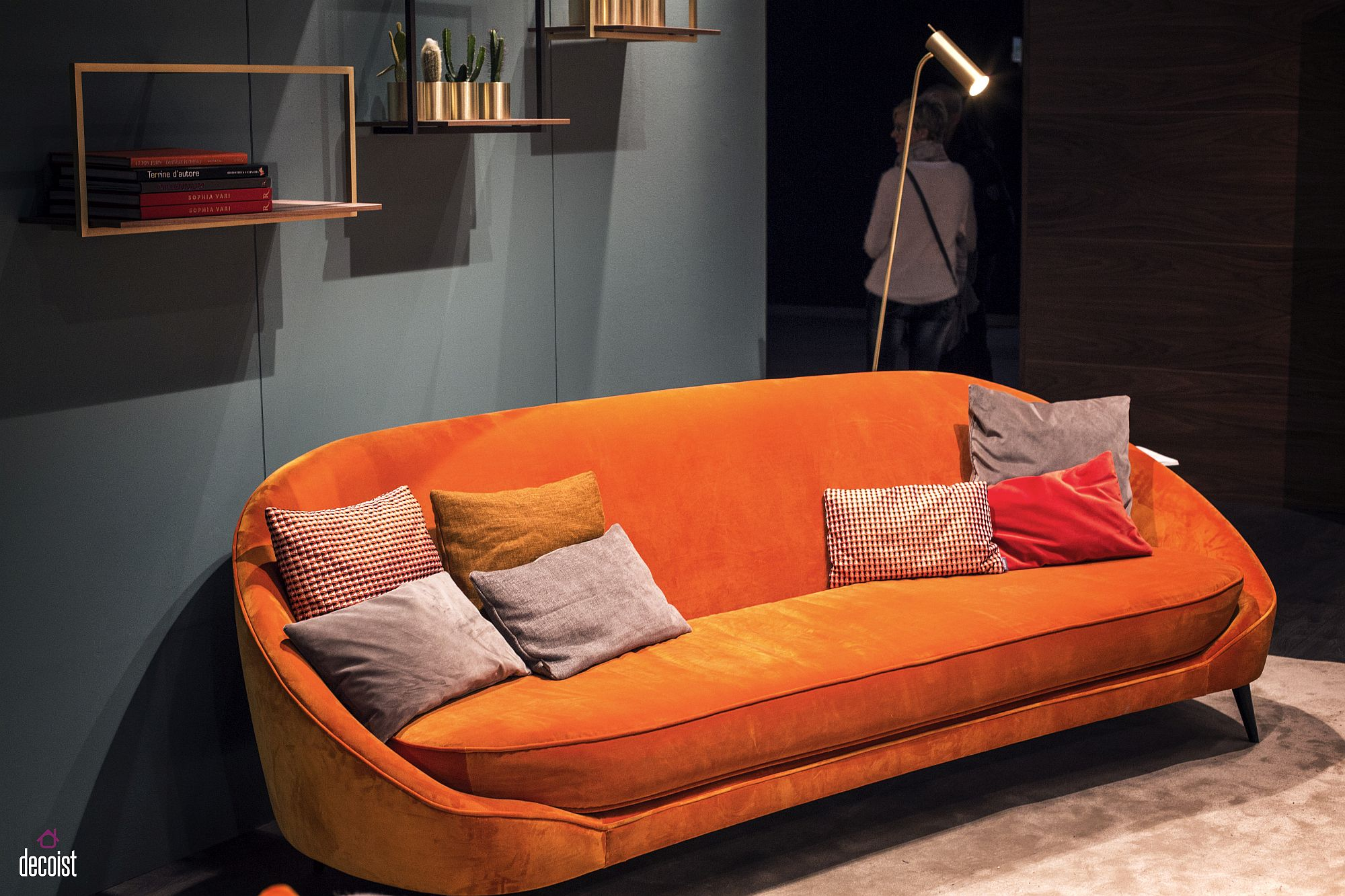 Bold orange couch from Vibieffe