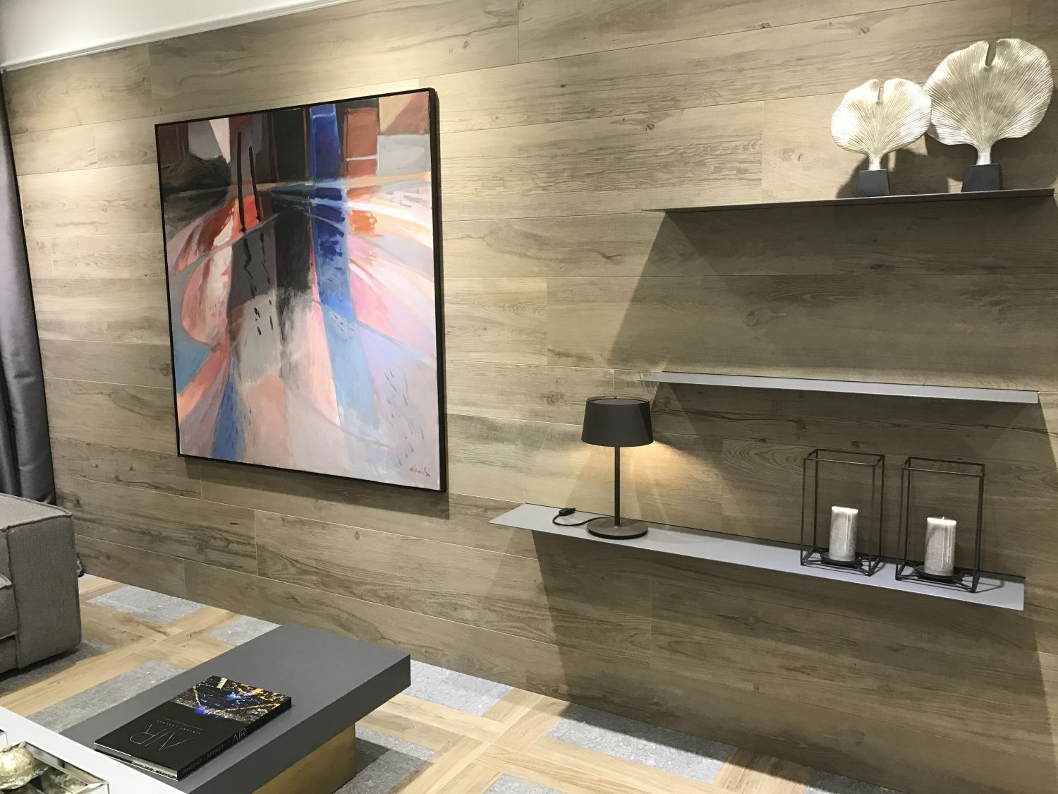 Bolonia tile by Porcelanosa mixes wood and cement look