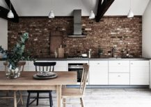 Brick-wall-backsplash-for-kitchen-in-white-with-gray-countertops-217x155
