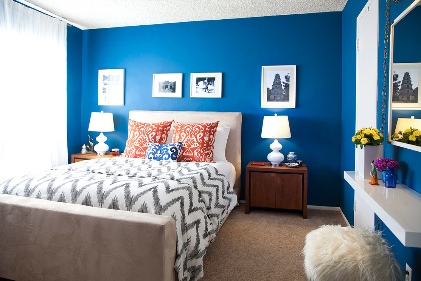 Moody Interior Breathtaking Bedrooms In Shades Of Blue - Blue-bedroom-interior
