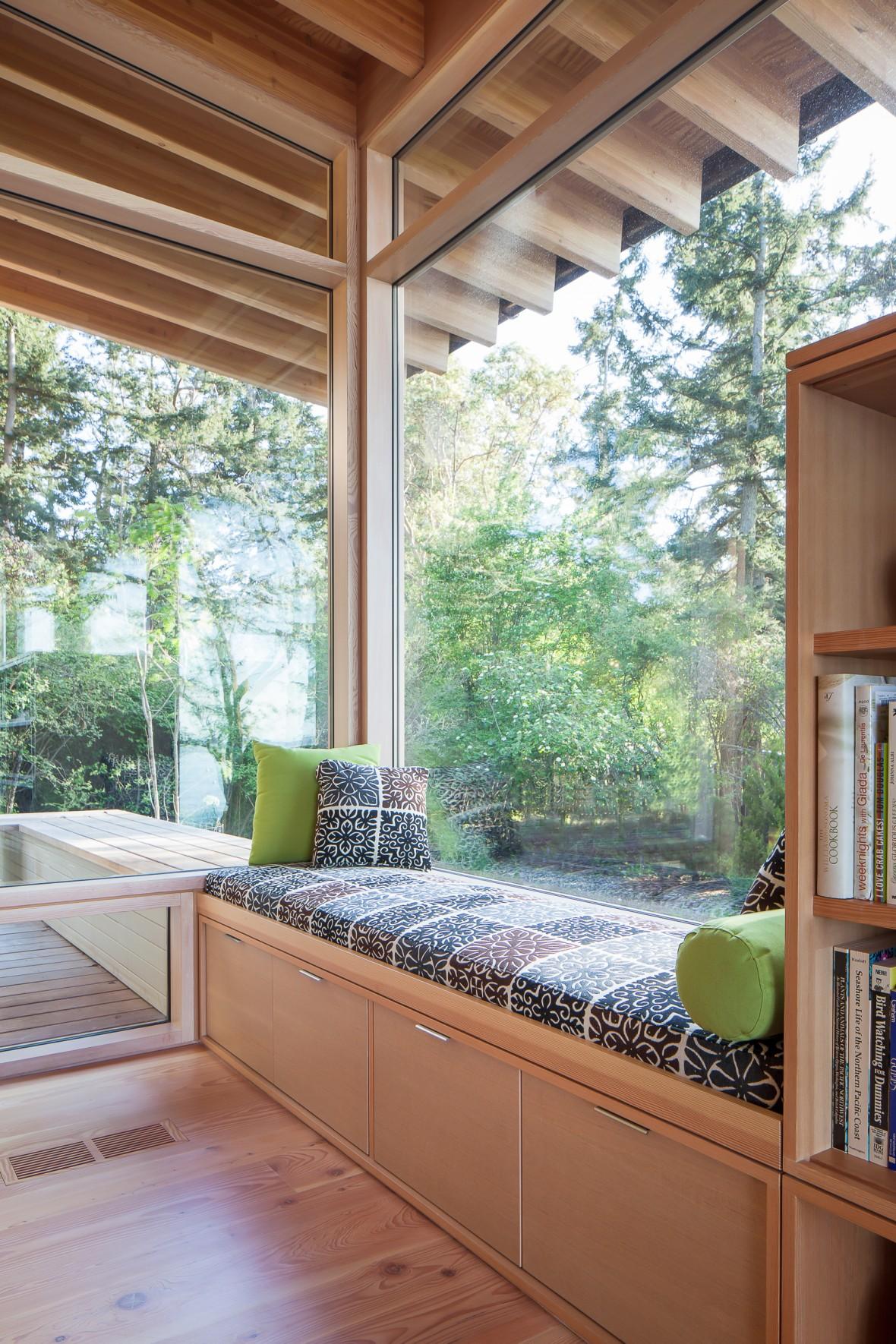 Bright-wooden-window-seat-reading-nook-
