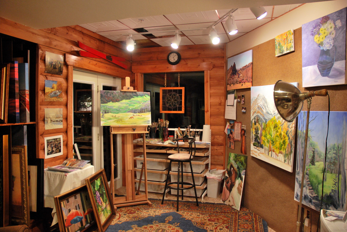 artistic coziness - Art Studio Design Ideas