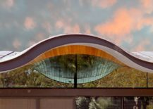 Closer look at the amazing design of the wavy roof 217x155 Wavy Brilliance: Stunning Sinuous Roof Steals the Show at Lauriston House