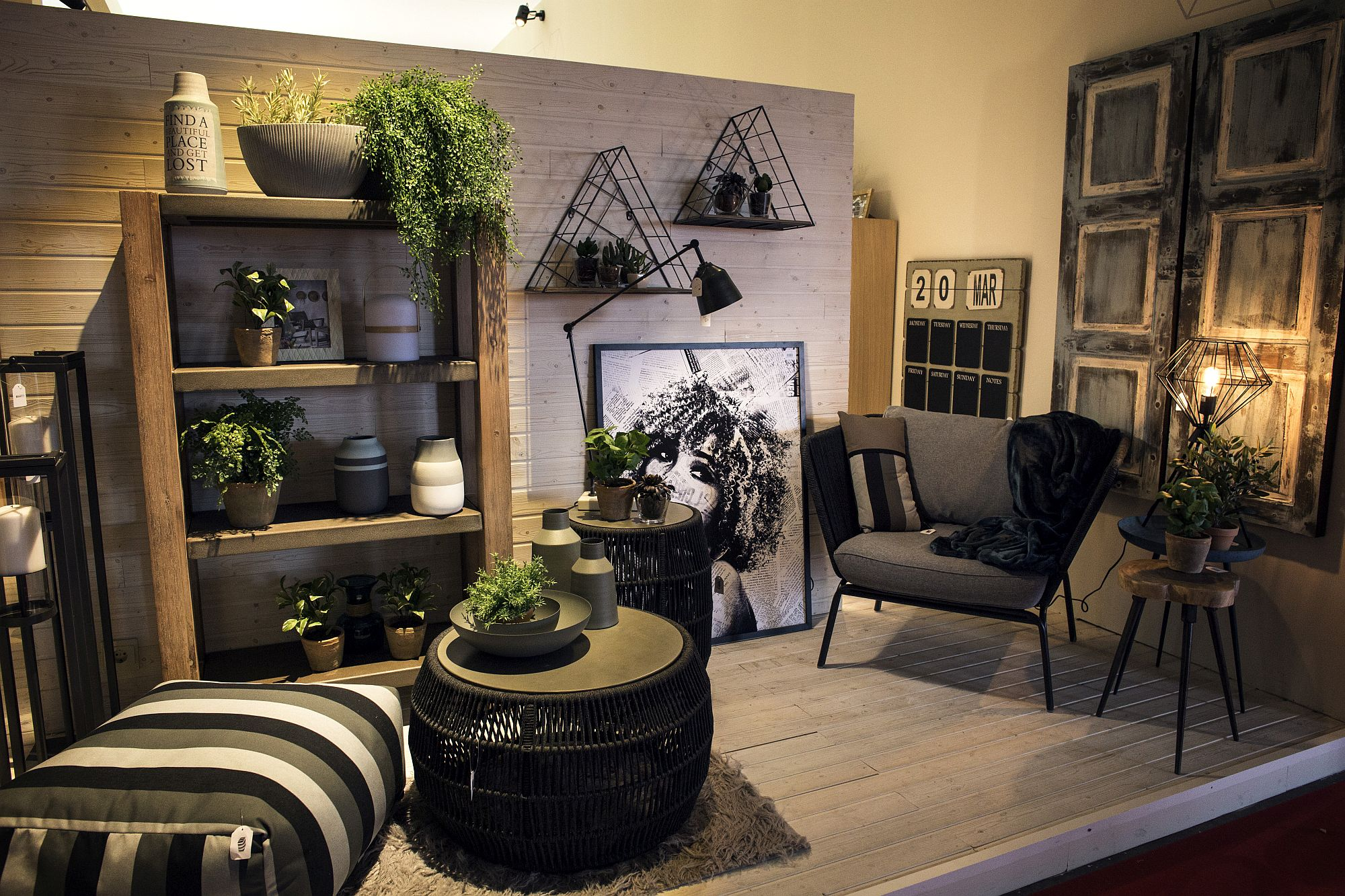 Decorate-your-living-room-shelves-with-refreshing-indoor-plants