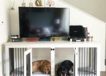 Dog-crate-used-as-a-TV-stand--217x155