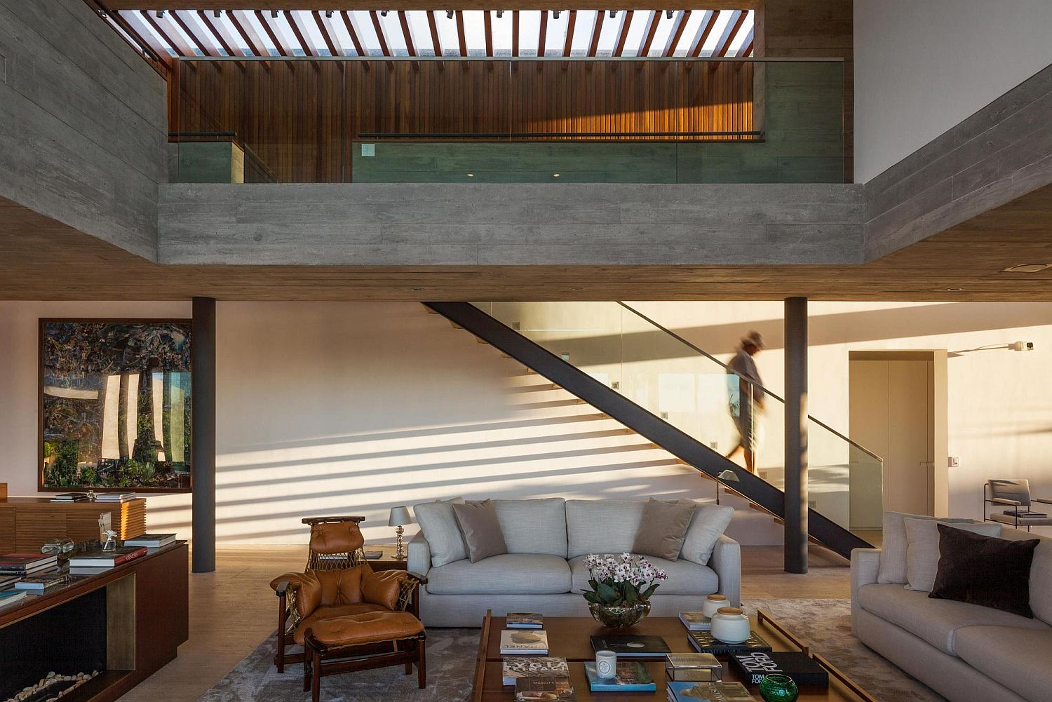 Double height living area with ample natural ventilation