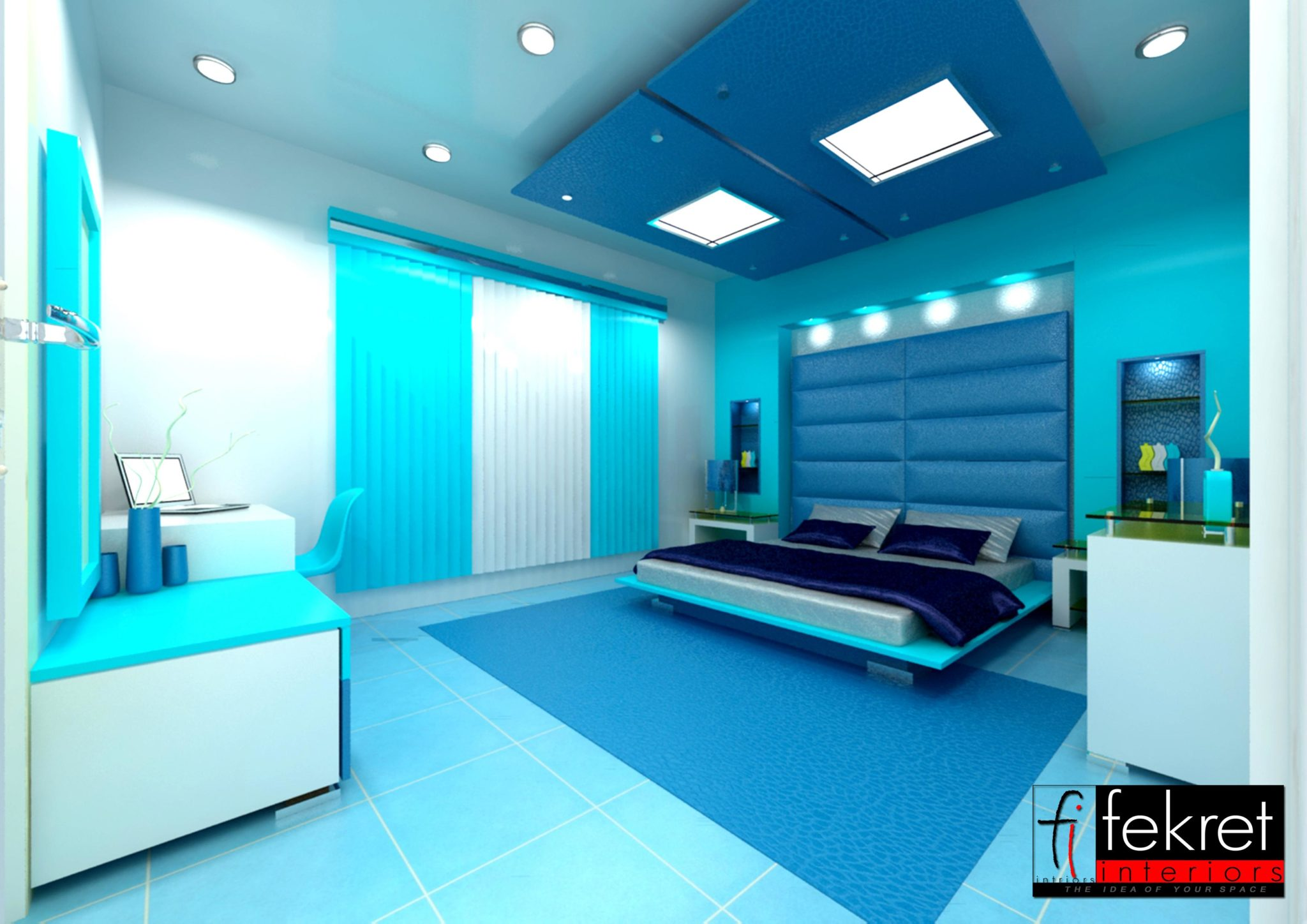Nice Cool And Modern. The Blue Bedroom ...