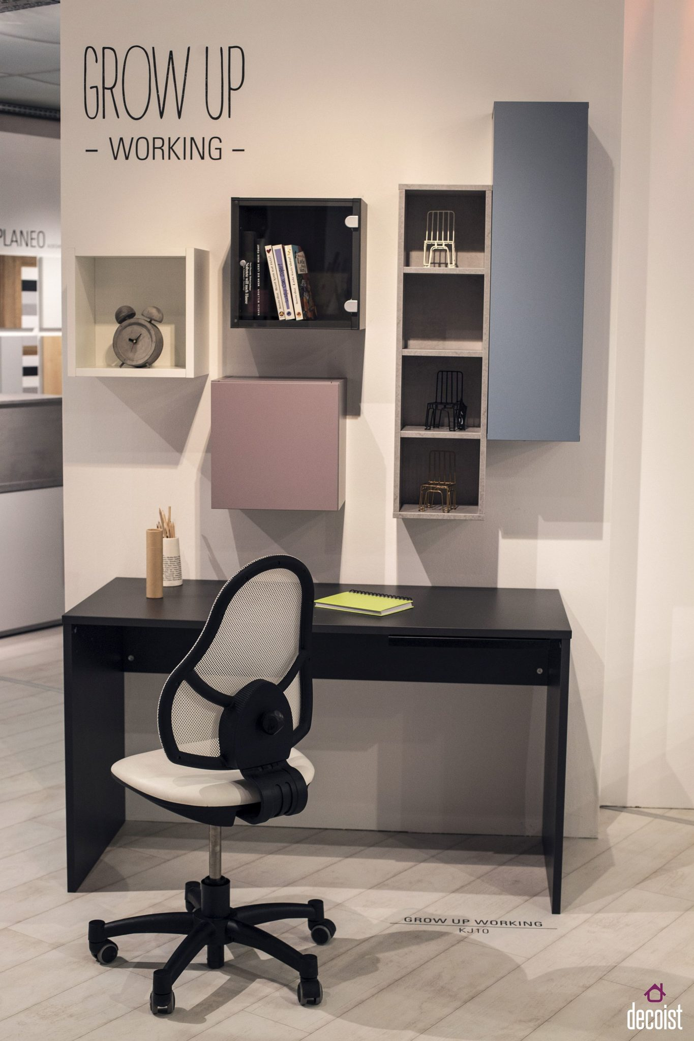 Elegant work desk and chair feel as much at home in adult spaces as they do in teen rooms