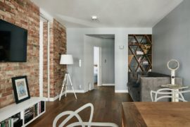 Renovated Krakow Apartment Showcases Beauty of Exposed Brick Walls