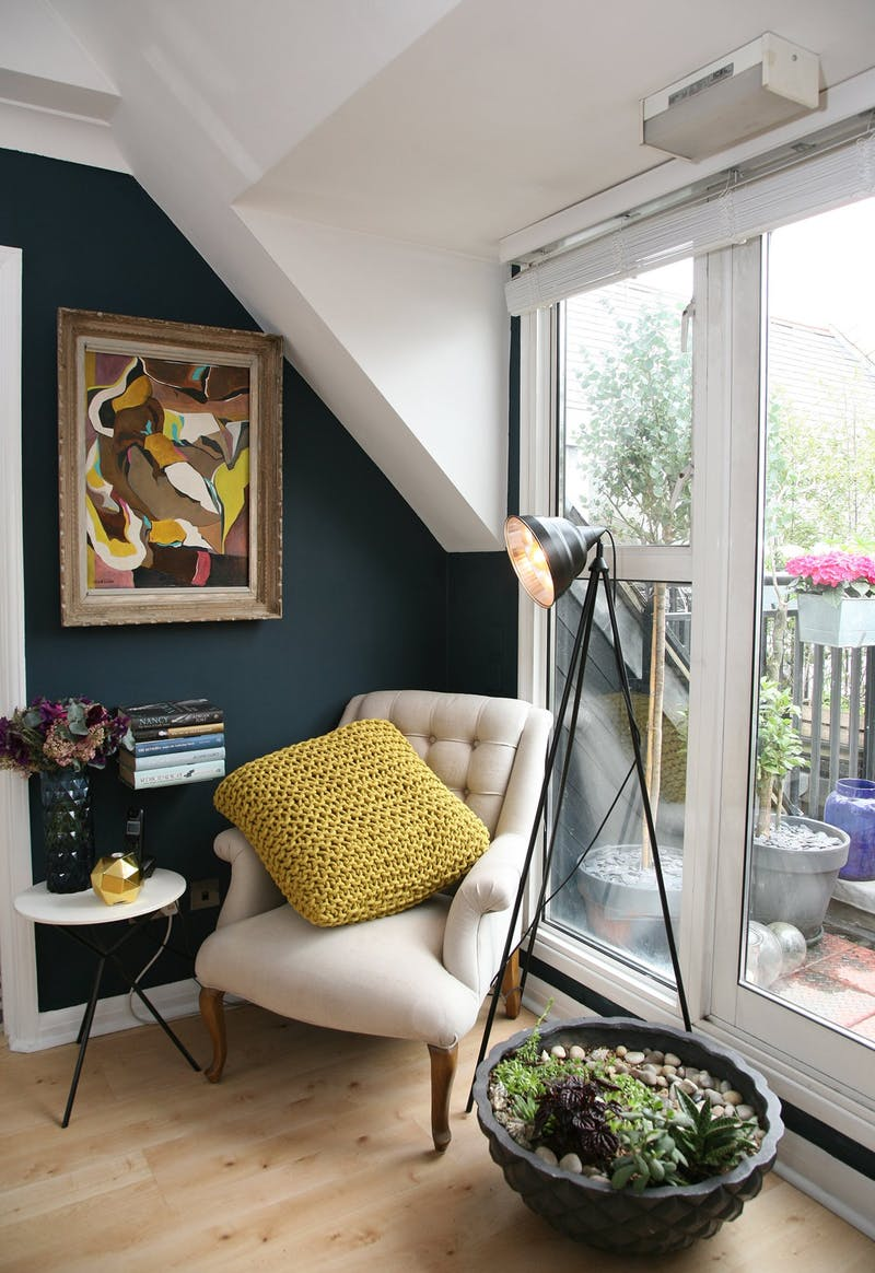 Exquisite little reading nook next to the balcony
