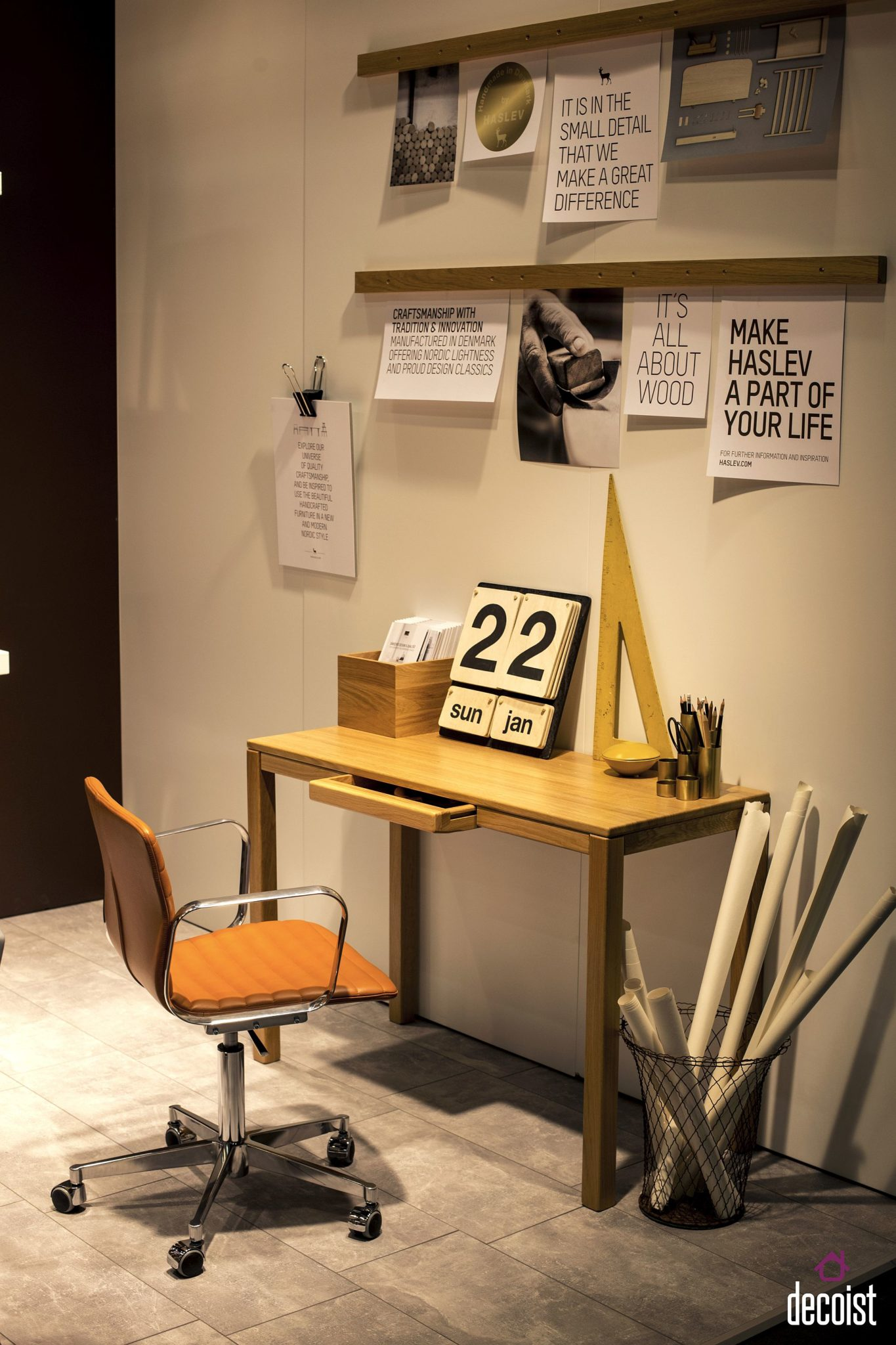 Exquisite wooden workdesk from Haslev