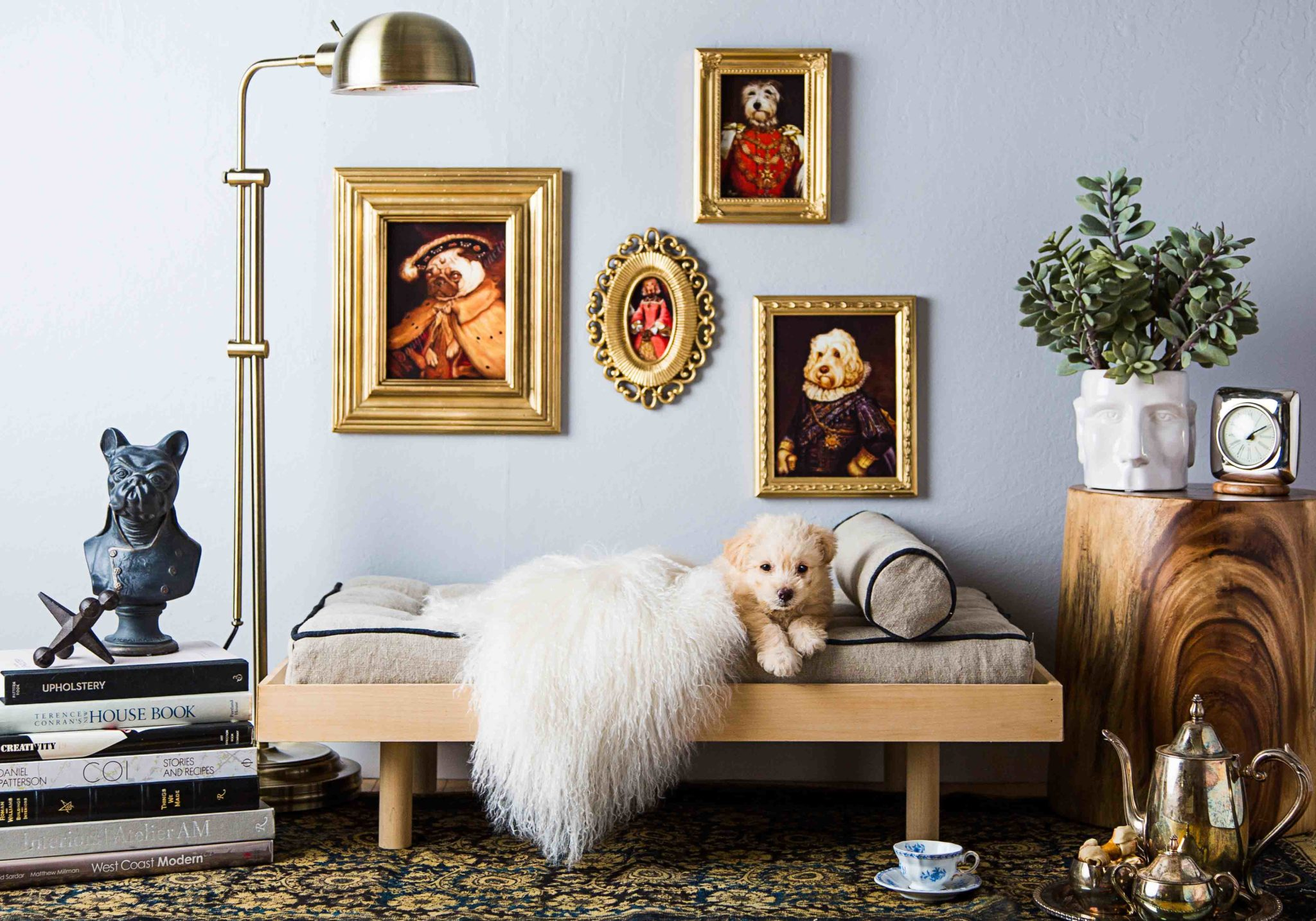 Extraordinary dog nook with all the glamour