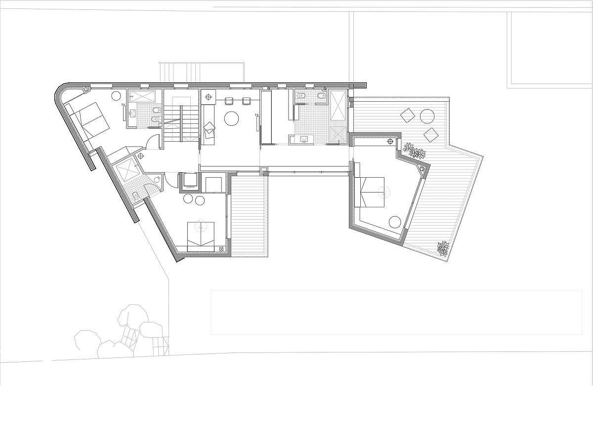First level floor plan of home in Barcelona