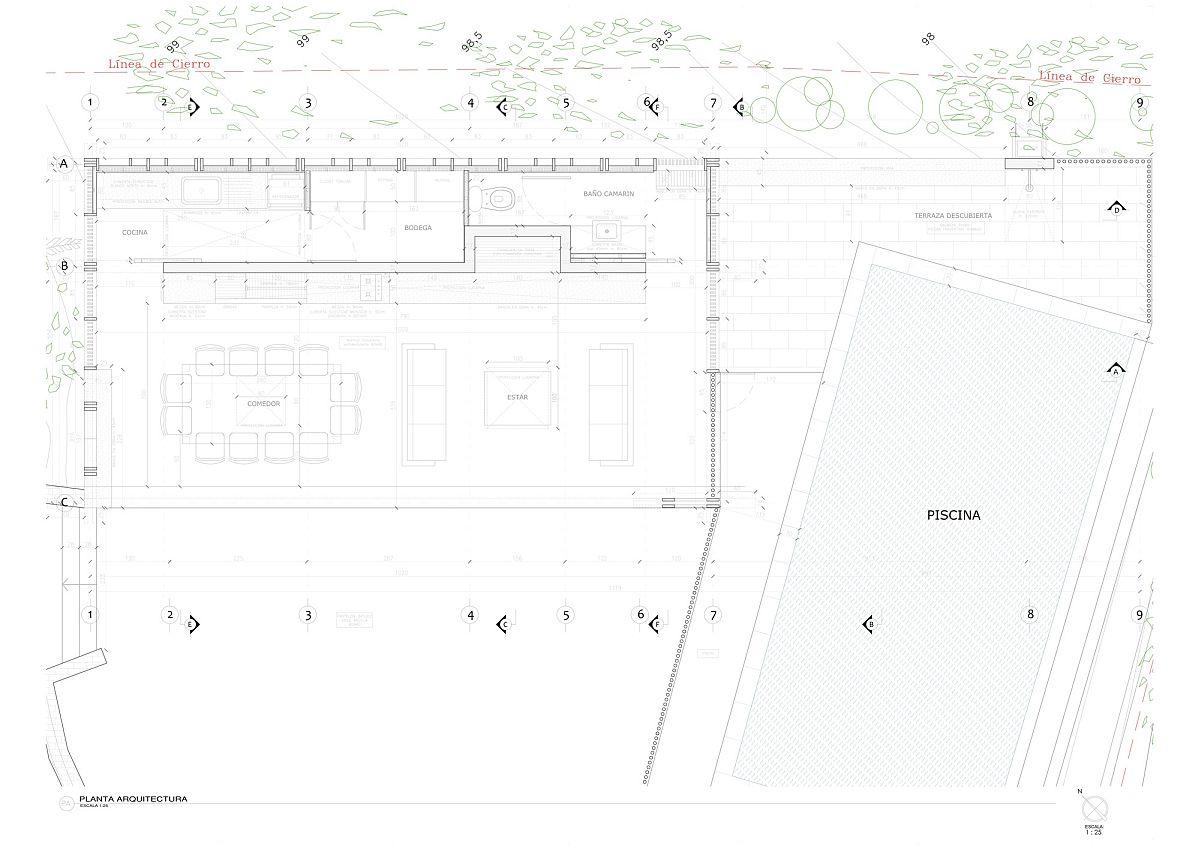 Floor plan of charming Beach Pavilion