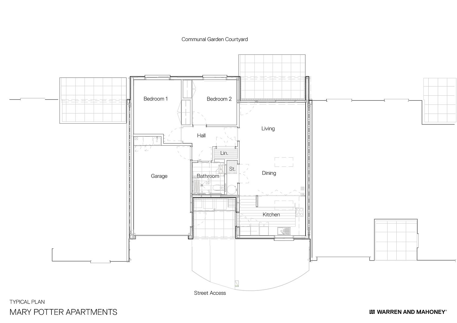Floor plan of individual apartment units in Christchurch