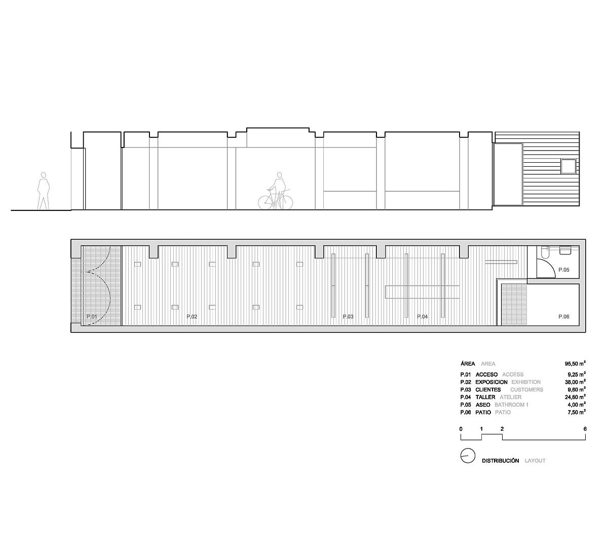 Floor plan of remodeled cycle shop