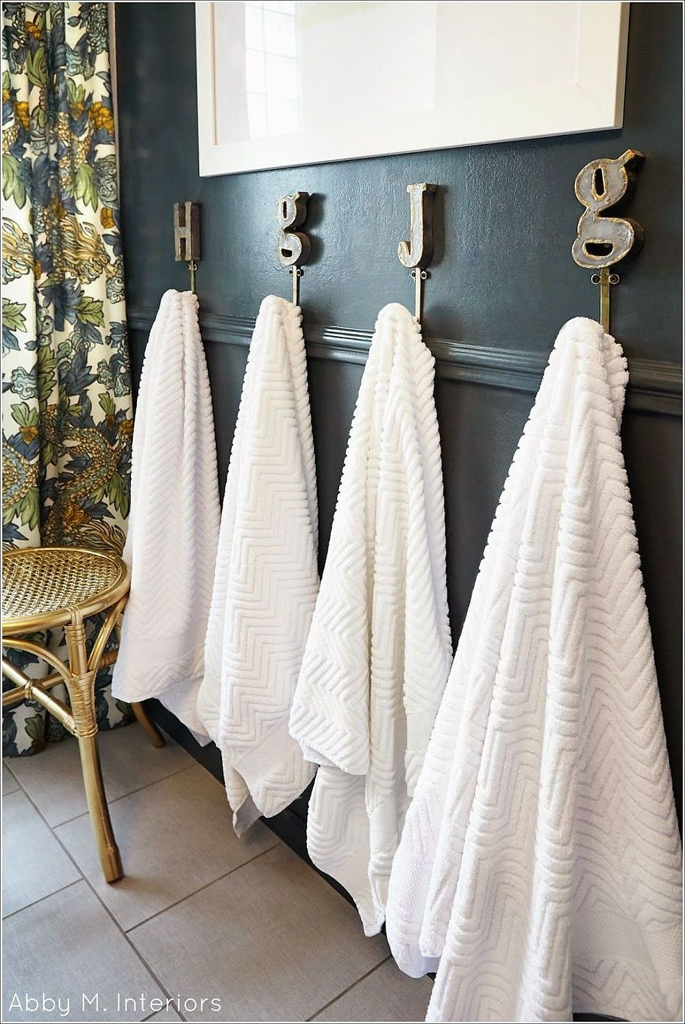 hooks for the modern bathroom from abby m interiors trendy bathroom