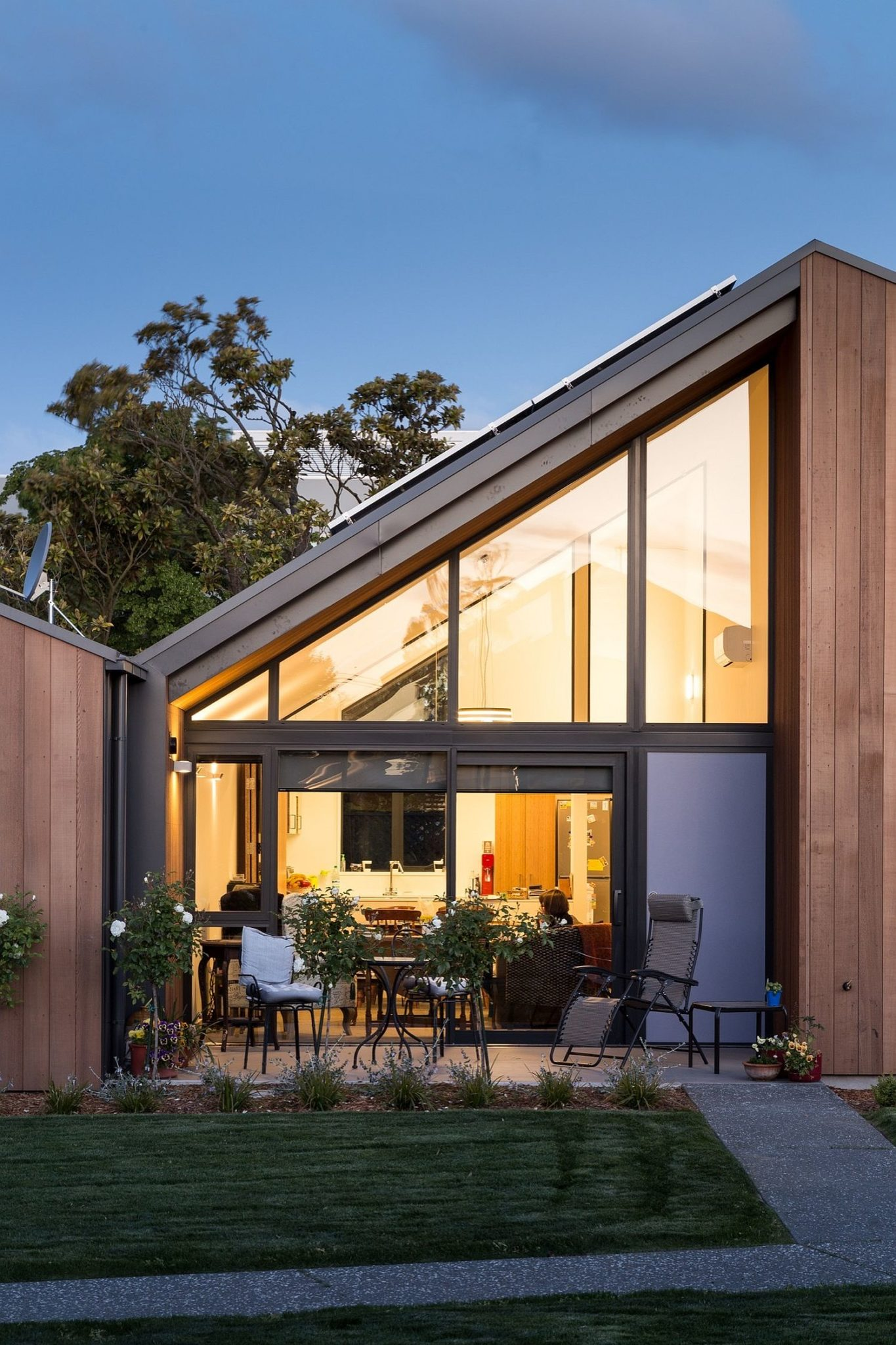Gabled roofs create spacious and sweeping interiors