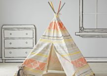 Gorgeous Teepee brings geo pattern to the kids room 217x155 Fun Design: 10 Fabulous Teepees for that Playful Kids' Room